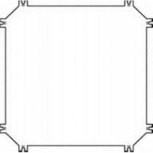 Eaton Montageplaat, staal, verzinkt, D=3mm, voor kast CI43
