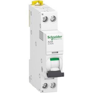 Schneider Electric Acti 9 Installatieautomaat C karakteristiek 10A 2p incl nul 1TE A9P54610