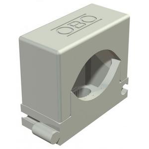 OBO Rijg-druk-zadel 27-43mm, PA, lichtgrijs, RAL 7035