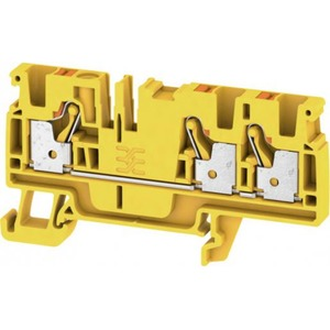 Weidmuller FEED-THROUGH TERMINAL BLOCK, PUSH IN, 4MM2, 8V, 32A, NUMBER OF CONN