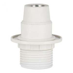 Bailey LAMPHOLDER E14 TP HALF THREAD+RING WHITE