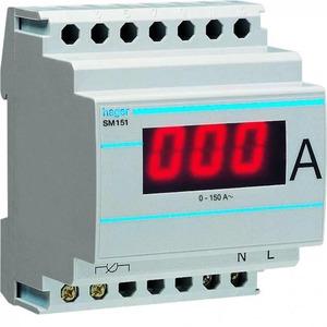 Hager Amperemeter digitaal 0-150 A