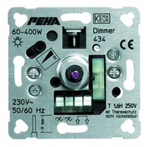 Peha Dimmer fase-aansn tbv gloeilampen,230 vhalogeenlamp e.a.ohmse verbr.
