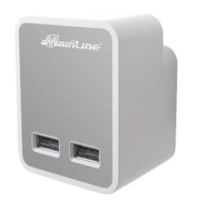 MAINLINE POWER & DATA 2-VOUDIGE USB LADER 3,1A, WIT