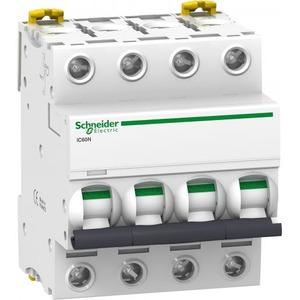 Schneider Electric Acti 9 Installatieautomaat C karakteristiek 63A 4p 4TE A9F79463