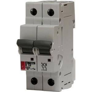 ETI ETIMAT P10 Installatieautomaat B karakteristiek 6A 2p incl nul   2TE   433011126