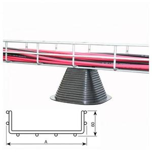 Roofsupport Draadgoot+daksteun 60x100mm hd 12mtr
