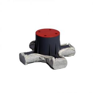 Attema CD80R Kitvast centraaldoos met tape Ø 16/19 mm