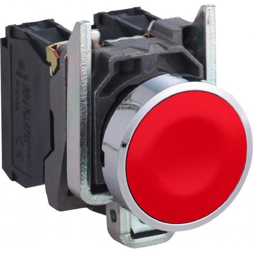Schneider Electric Drukknop rood metaal 1nc