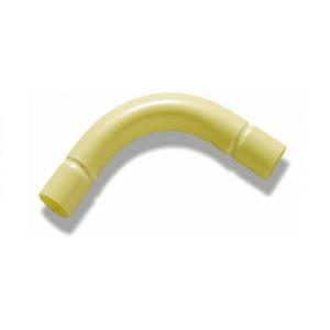 Pipelife Polivolt PVC bocht 38mm creme