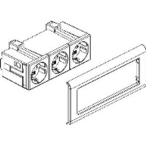 Rehau Signo cubico wandcontactdoos ra 3v wit 17300081510