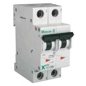 Eaton Installatieautomaat FAZ-C20/1N , C 20A , 2 Polig incl. NUL , 15 kA