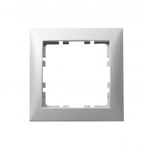 Berker S.1 Afdekraam 1V Aluminium IP20 10119939