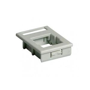 Attema Adapter Onderdeel/Centraalplaat Modular-Jack Modulair element voor schakelmateriaal Kunststof Grijs 1973