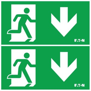 Eaton Blessing NOODVERLICHTING, BL ISO PICTOGRAM T.B.V. GUIDELED 20M, PLAFOND, PIJL B