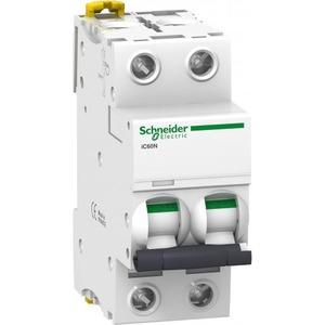 Schneider Electric Acti 9 Installatieautomaat C karakteristiek 2A 2p 2TE A9F74202