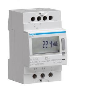 Hager kWh-meter 1 f, dir, 63 A, 1 tar, 3 mod