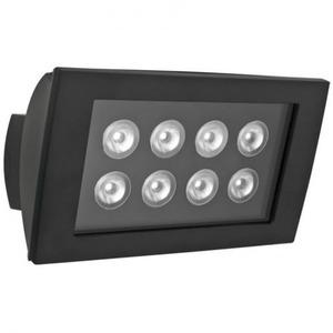 Esylux Wandschijnwerper 8 LEDs (24 W) 3K, zwart