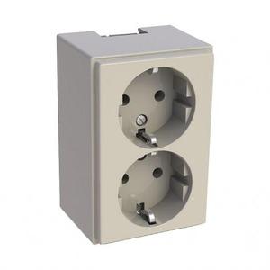 Attema K25/P25 Wandcontactdoos Opbouw (stucwerk) RA 2V Crèmewit (elektrowit) 5580