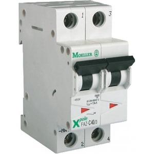 Eaton Installatieautomaat FAZ-C10/1N , C 10A , 2 Polig incl. NUL , 15 kA