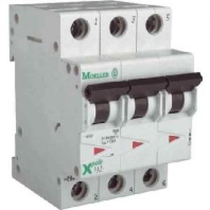 Eaton Installatieautomaat FAZ-B63/3N , B 63A , 4 Polig incl. NUL , 15 kA