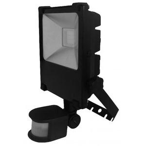 Newlec LED SCHIJNWERPER 20W ZWART MET PIR