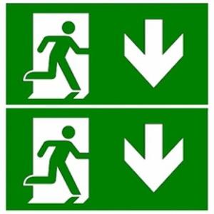 Eaton Blessing Bl iso perspex skopos (led) d & perspex-i pijl beneden+pijl beneden
