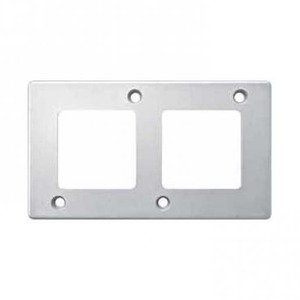 Merten Slagvast Afdekraam 2V Verticaal Aluminium IP20 MTN480260 CT