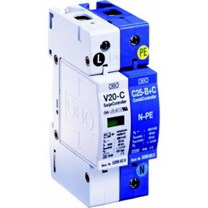 OBO SurgeController V20 wissel 3+NPE met optisch signaal 280V