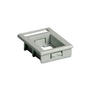 Attema Adapter Onderdeel/Centraalplaat Modular-Jack Modulair element voor schakelmateriaal Kunststof Grijs 1975