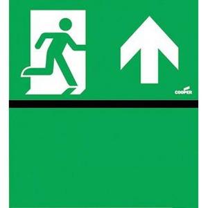 Eaton Blessing Bl iso perspex skopos (led) d & perspex-i pijl omhoog+groen vlak