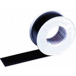 Coroplast 302 zelfklevende tape 19mmx25m PVC Zwart 441505